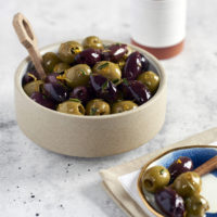 Citrus Garlic Marinated Olives