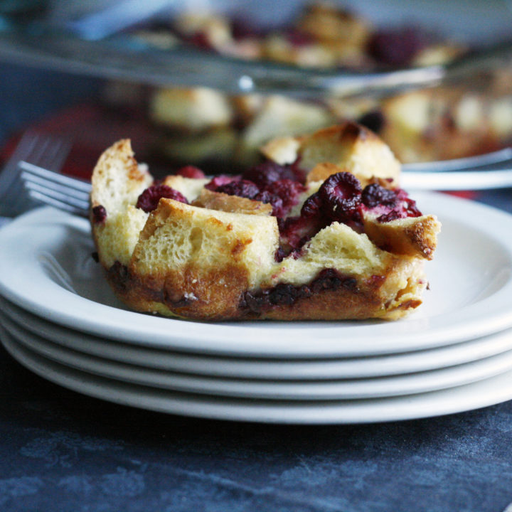 Raspberry French Toast Casserole