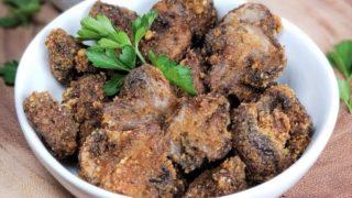 Low Carb Air Fryer Garlic Mushrooms [Recipe and Video]