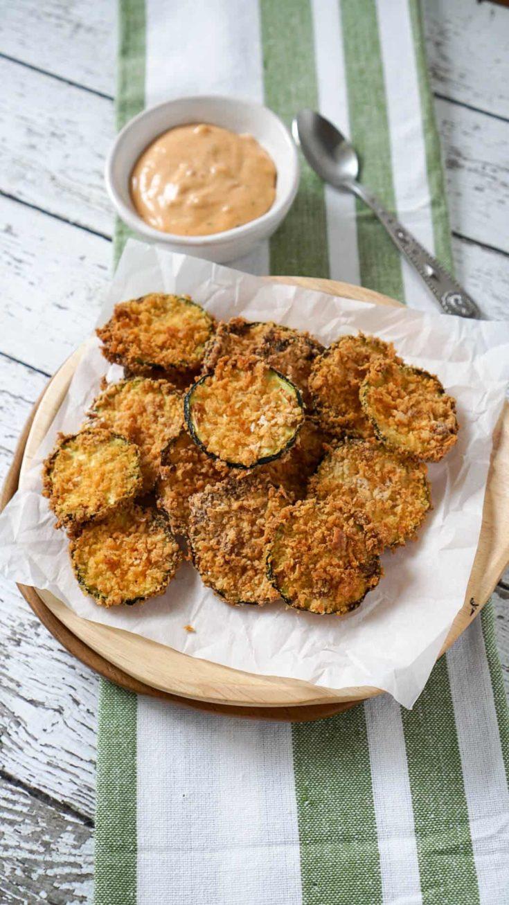 5 Ingredient Air Fryer Zucchini Chips