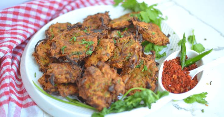 Air- fryer Onion Bhaji – Onion Pakoda