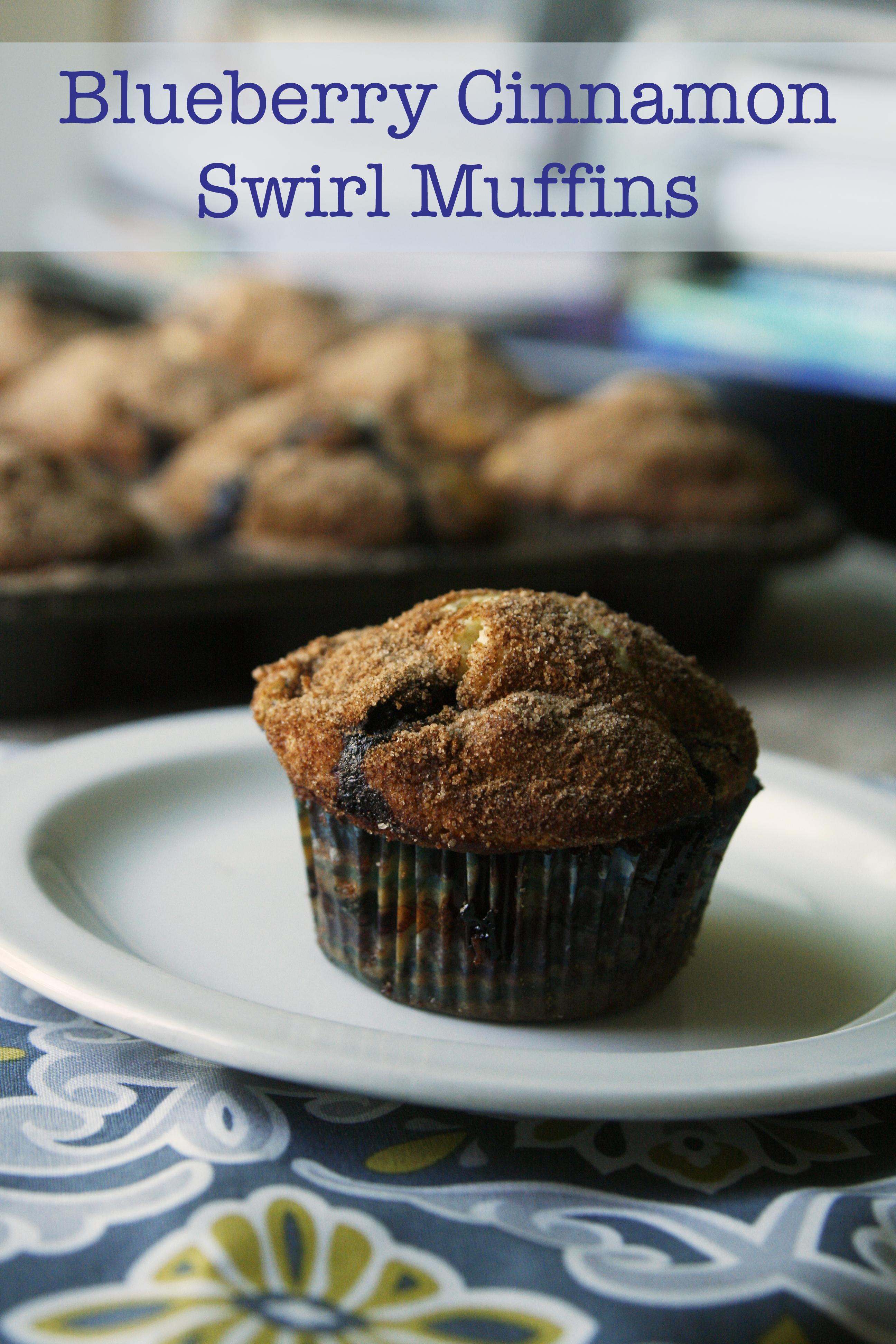 blueberry cinnamon swirl muffins