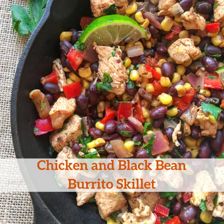 Chicken and Black Bean Burrito Skillet Recipe