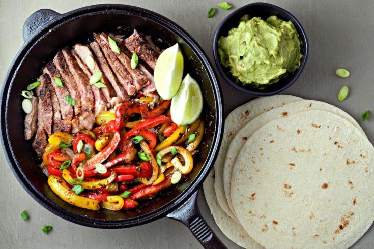 One Skillet Ribeye Steak Fajitas Recipe for Two
