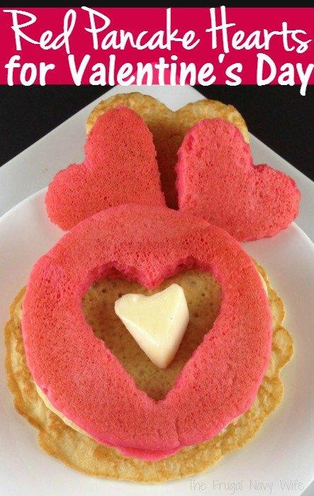 Red Pancake Hearts