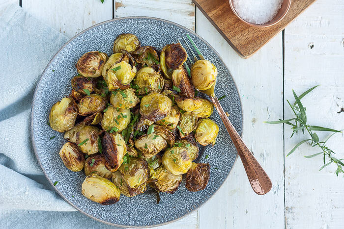 Air Fryer Brussels Sprouts {Whole30, Paleo, Keto}