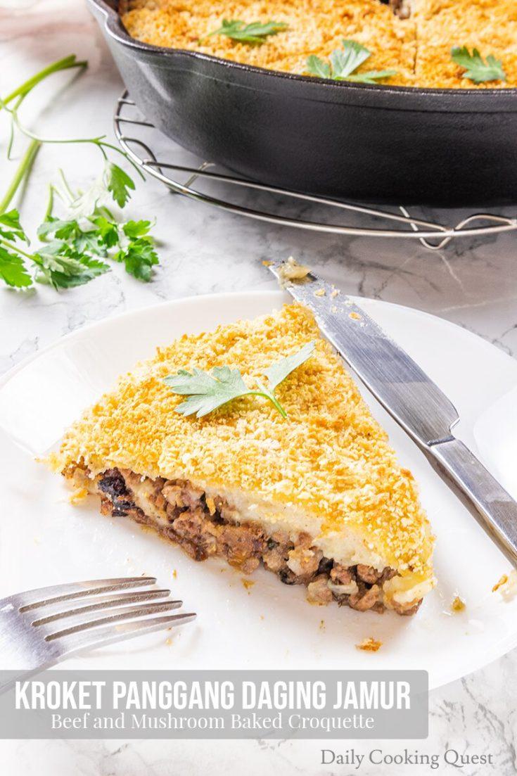 Kroket Panggang Daging Jamur - Beef and Mushroom Baked Croquette