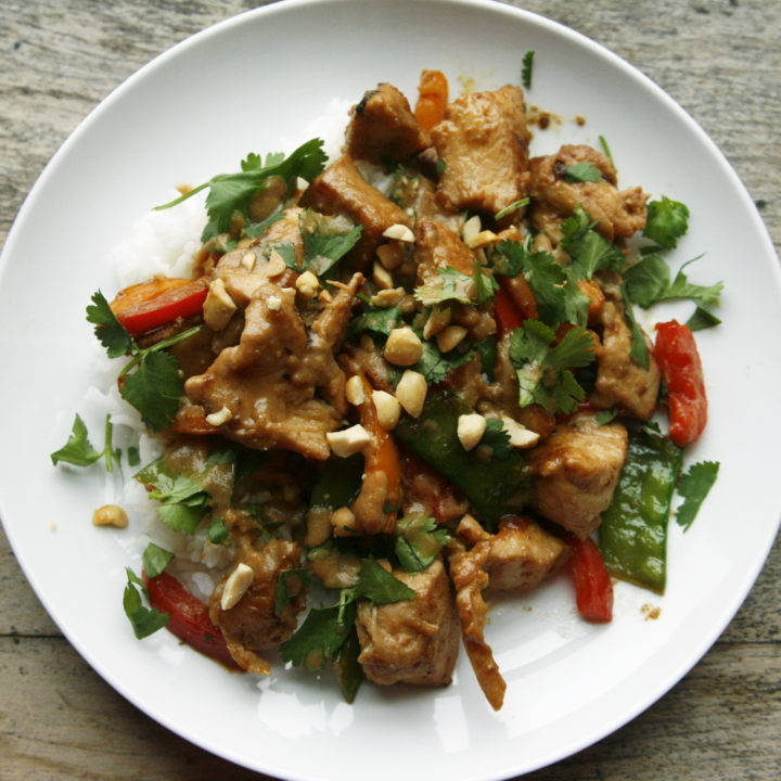 Chicken Stir Fry with Satay Marinade