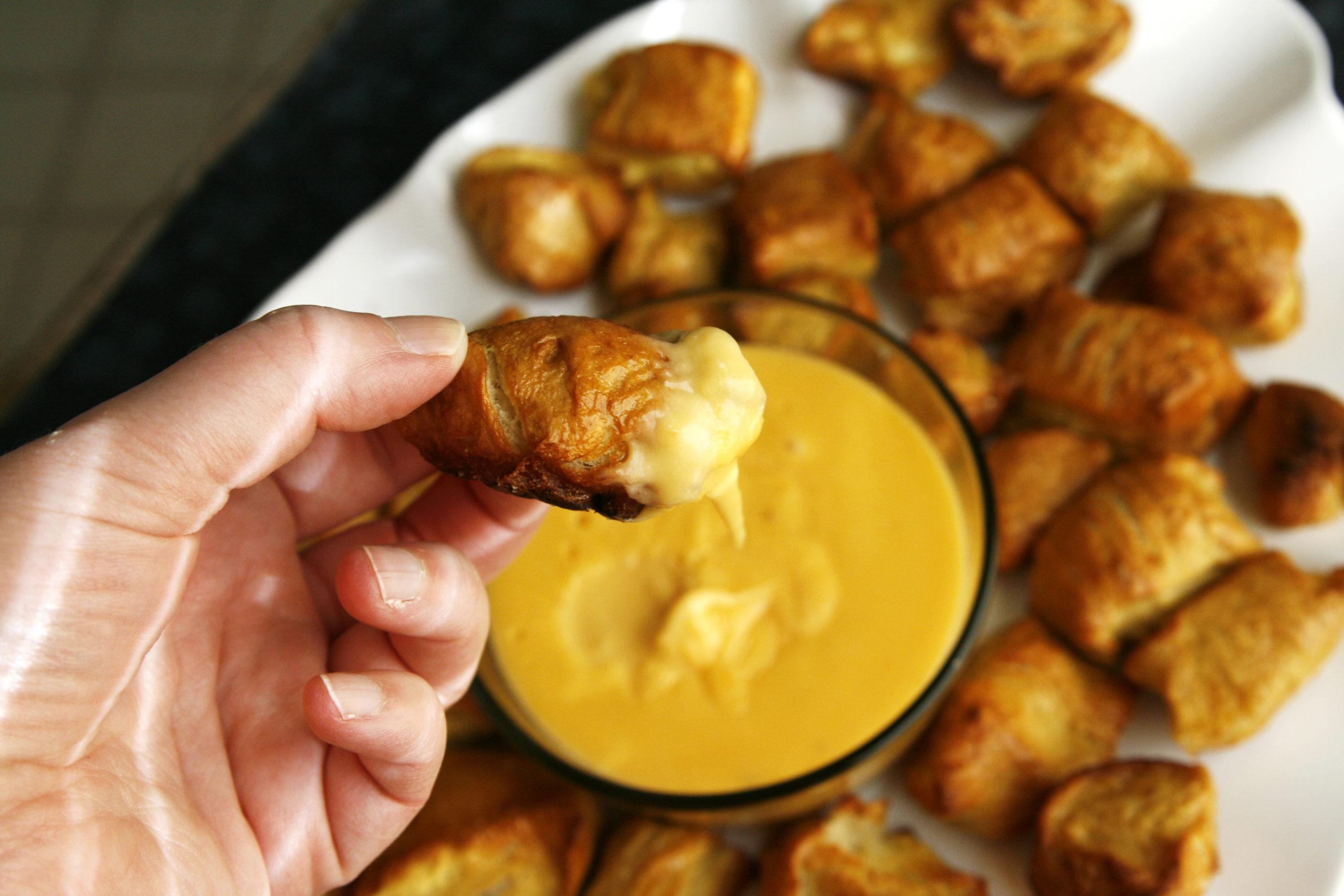 Pretzel Bites with Beer Cheese Sauce