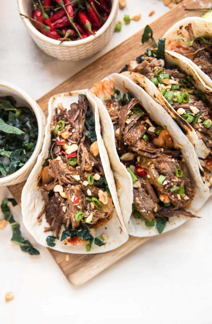 Instant Pot Korean Beef Tacos