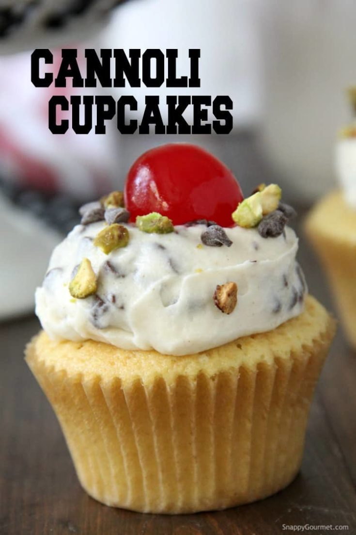 Cannoli Cupcakes with Easy Cannoli Cream Frosting