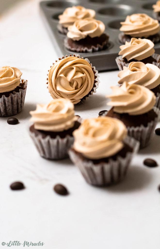 Mocha Cupcakes with Hazelnut Buttercream