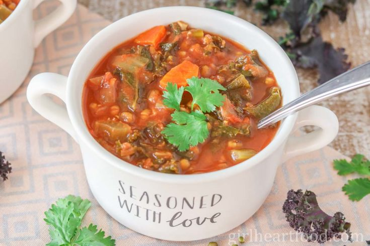 Mung Bean Soup with Vegetables