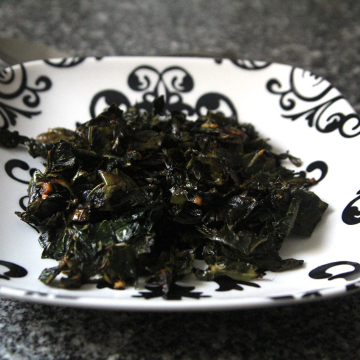 Sauteed Collard Greens with Garlic and Ginger