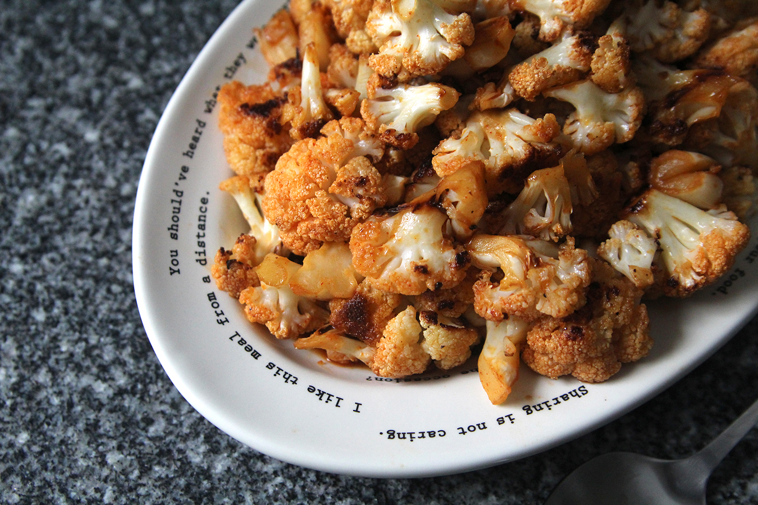 Spicy Roasted Cauliflower with Gochujang