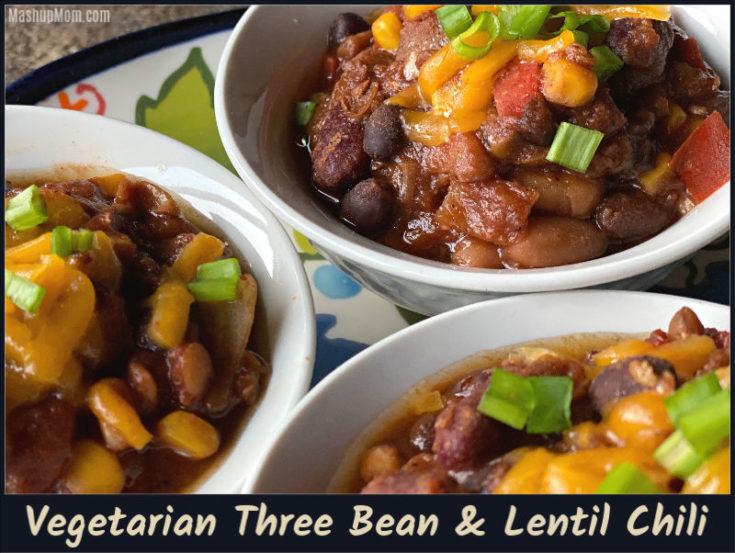 Vegetarian Three Bean & Lentil Chili