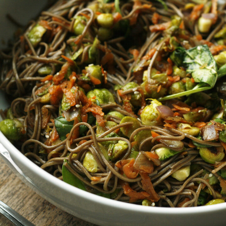 Sesame Soba Noodles with Brussels Sprouts