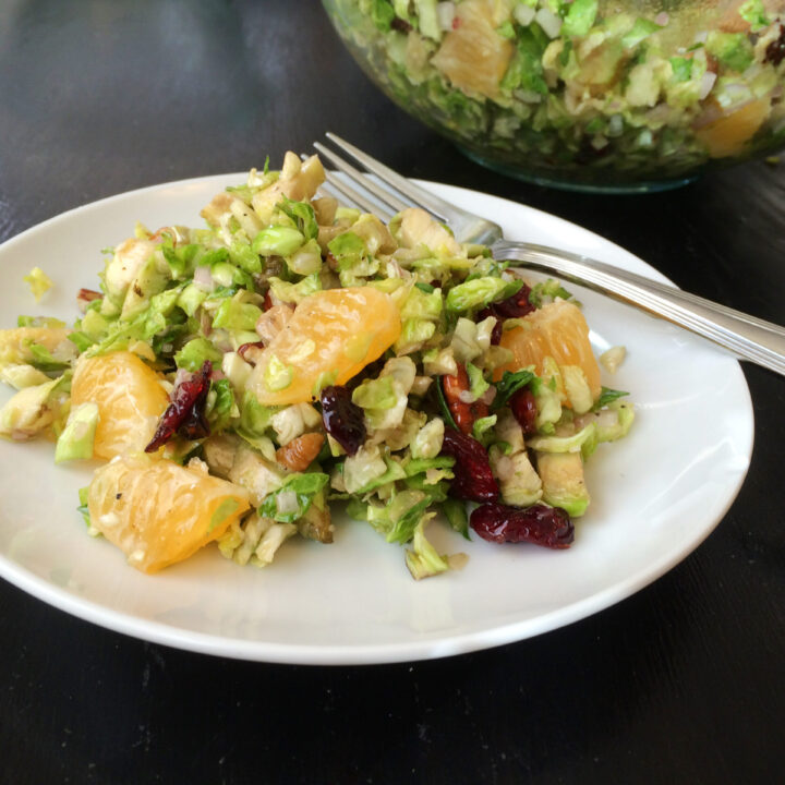 Brussels Sprouts Salad with Shallot Vinaigrette
