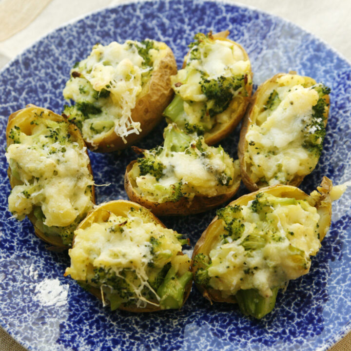 Mini Twice Baked Broccoli Cheddar Potatoes